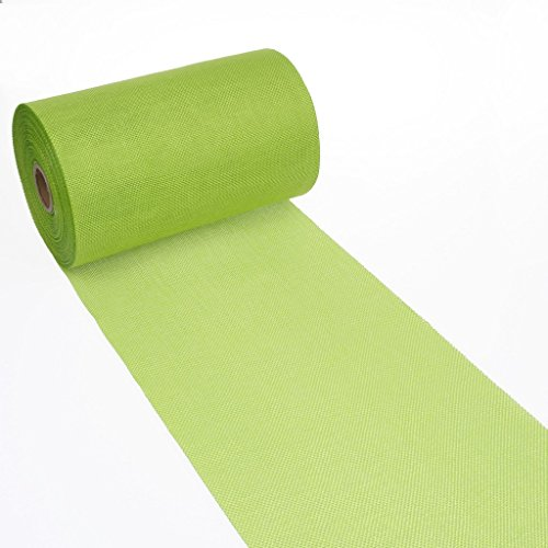 Shabby Chic table runner - Linen look table runner - col.34 - may green - 8 by 72, 90, 96, 108. - inch - 69-200-5-34 -