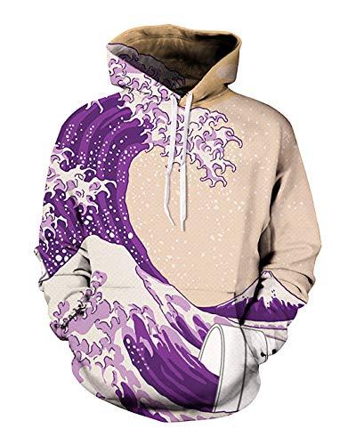(Unisex 3D Novelty Hoodies Easter Galaxy Hoodies Sweatshirt Pockets)