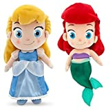 Nicky's Gift 2pcs Princess Ariel The Little Mermaid Cinderella Plush Stuffed Toddler Doll Toy