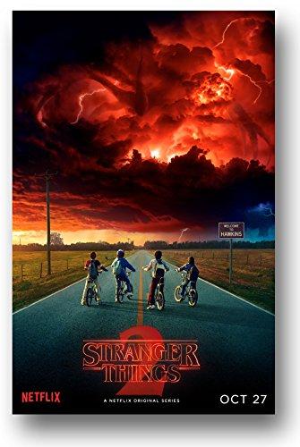 Stranger Things Season 2 Poster - 11 x 17 inch Promo red sky