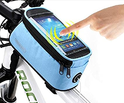 "5.5/"" Roswheel Bike Bicycle Cycling Frame Pannier Tube Phone Bag Pouch Black US"