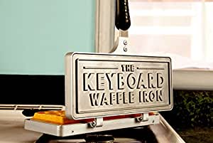 Messy Desk Designs Keyboard Waffle Iron - Cast Iron Stovetop Gadget, Funny Gag Gifts for Graduation, Birthdays, and Holidays