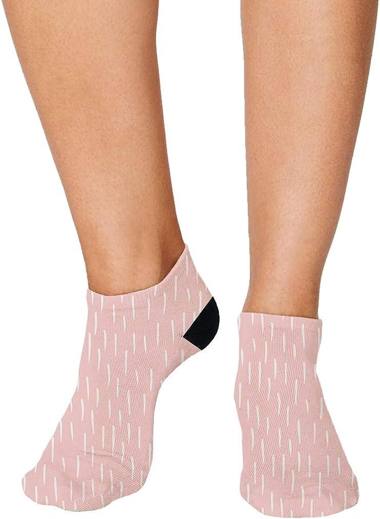 White And Pink Pitter Pattern #1 Men-Women Adult Ankle Socks Novelty Socks