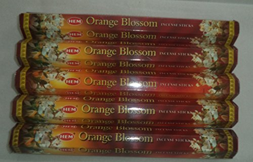 HEM Orange Blossom 100 Incense Sticks (5 x 20 stick - Incense Orange Sticks