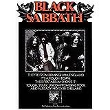 con scritta Sabbat e scritta Black Sabbath Poster da parete in tela per camera da letto