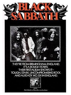 - Black Sabbath - First Album - 1970 - Album Release Promo Poster