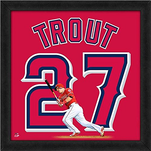 Angels Photograph Angeles Los (Mike Trout Los Angeles Angels MLB UniFrame Photo (Size: 20