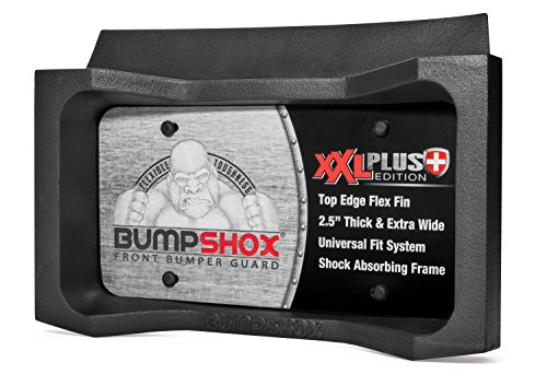 Shock Plate ((NEW FOR 2018) BumpShox XXL - Front Car Bumper Protection, Ultimate Front Bumper Guard. Front Bumper Protection License Plate Frame. Tougher Than Steel !)