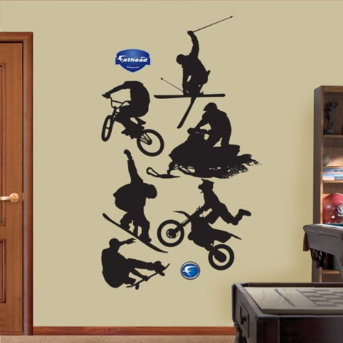Assorted Action Sports Silhouettes Wall (Action Wall Graphic)