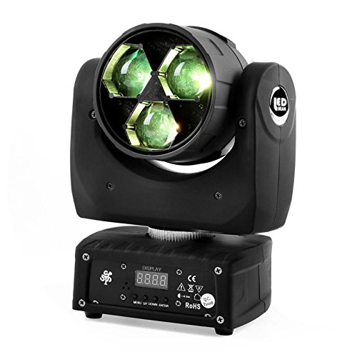 Pub One Light - TSSS XL135 3 x 20W RGBW Zoom Moving Head Light DMX512 4-in-1 LED Wash Show DJ Bar Pub Club Wedding Birthday Stage Lighting