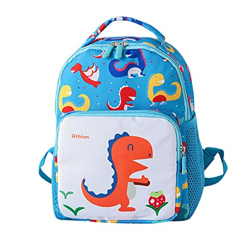 Sumen Toddler Toy Snack Bag,Cute Dinosaur Print Backpack for Little Girls Boys 2-5 Years Old (Sky Blue) (Best Lunch Box For 3 Year Old)