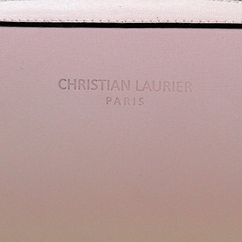 Christian Laurier - Sac à main en cuir modèle Carmen rose - Sac à main minaudière haut de gamme fabriqué en Italie en cuir véritable