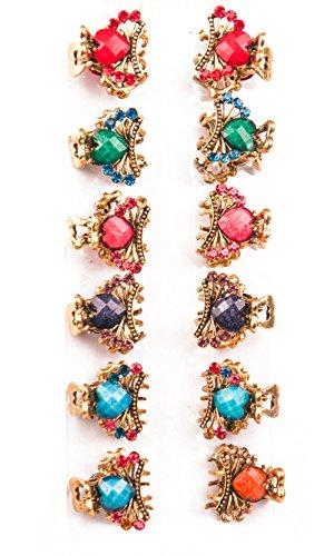 Yeshan Vintage Pattern rhinestone Crystal