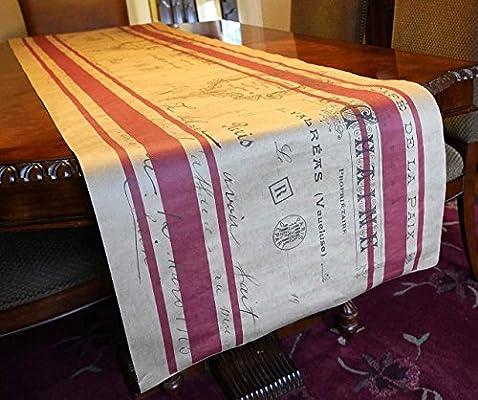 Burlap camino de mesa Look papel camino de mesa para boda rústico ...