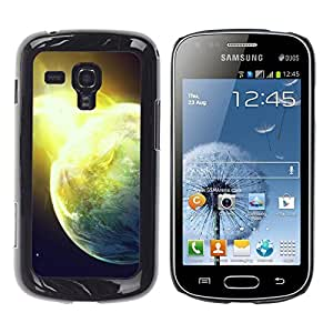 Caucho caso de Shell duro de la cubierta de accesorios de protección BY RAYDREAMMM - Samsung Galaxy S Duos S7562 - Sun Star Space Cosmos Explosion Planets Art