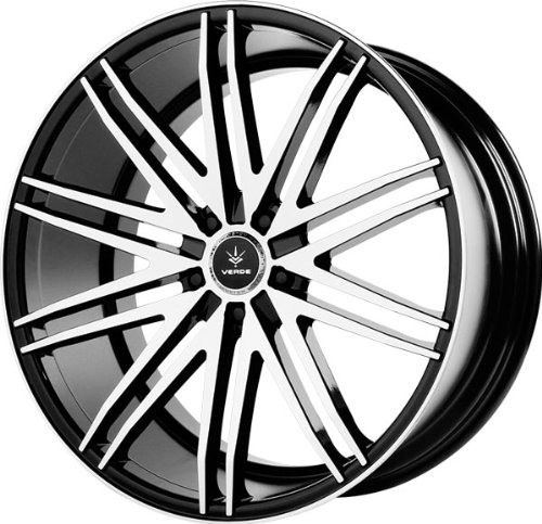 Verde Custom Wheels Impulse Gloss Black Wheel with Machined Spoke and Lip (22x9