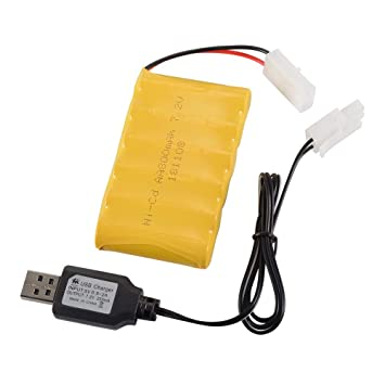 Tutmonda 7.2V 800mAh Batería Recargable de Ni-CD AA con KET ...