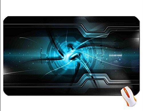 Administered Blue Desktop Wallpaper Mouse Pad Super Big