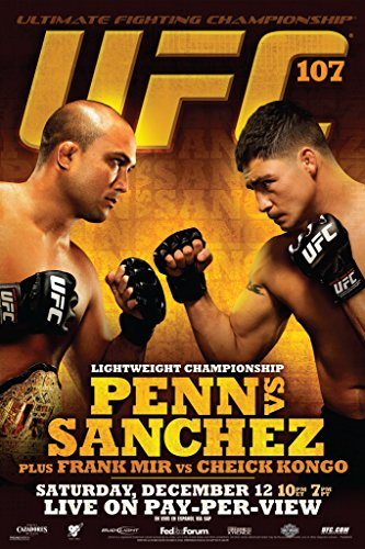 (Pyramid America Official UFC 107 BJ Penn vs Diego Sanchez Sports Poster 12x18 inch)