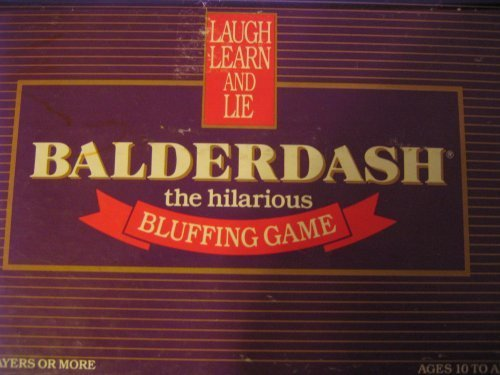 Balderdash - The Hilarious Bluffing Game (1984 Original Edition) by GameWorks (Bluffing Game)