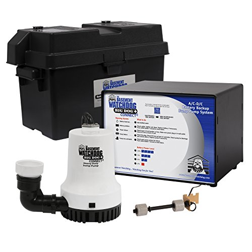 Backup Basement Pump Sump - The Basement Watchdog Big Dog CONNECT computer controlled AC/DC battery backup sump pump system