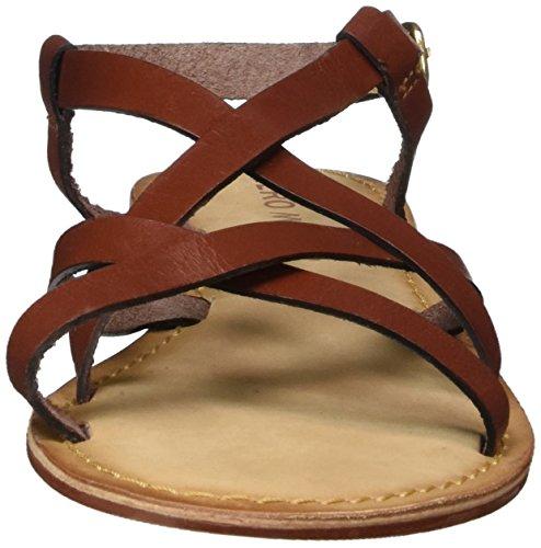 Vero Moda Vmvina Leather Sandal, de Tiras para Mujer Rojo (Henna)