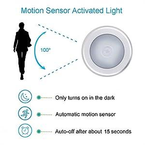 Motion Sensor Light, Searik Battery Powered LED Night Light Step Lights Stair Closet Light Under-Cabinet Lighting Stick…