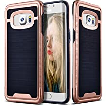 Galaxy S6 Edge Plus Case, Ansiwee Shockproof Phone Cover, Galaxy S6 Edge Plus Cover, Soft TPU Bumper Hard PC Case Brushed PC Texture Protective Armor for Samsung Galaxy S6 Edge Plus (Rose Gold)