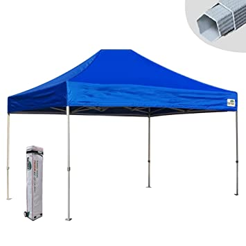 New Eurmax 10x15 Ft Premium Ez Pop Up Canopy Instant Shelter Outdoor Party Tent  Gazebo Commercial