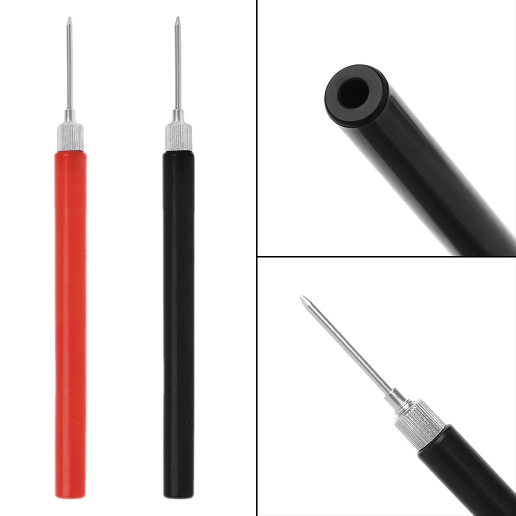 Qisuw 1Pair Electronic Universal Digital Voltmeter Multimeter Test Lead Probe Wire Pen Cable