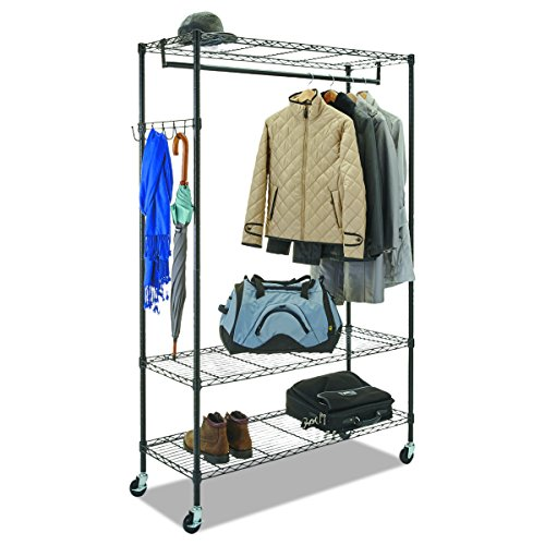 Standing Wire - Alera Wire Shelving Garment Rack (Black)