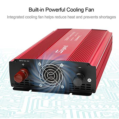 soyond 3000W Power Inverter for Home Car RV with AC Outlets Converter DC 12V in to AC 110V Out by soyond (Image #3)