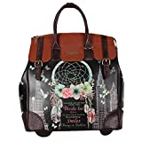 Nicole Lee Women's Exclusive Print Rolling Black Floral Business Laptop Compartment, Wheeled Travel Tote, Dream Comes True, One Size
