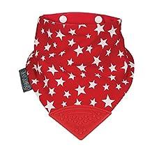 Cheeky Chompers CC024 Neckerchew Bib, Red/white