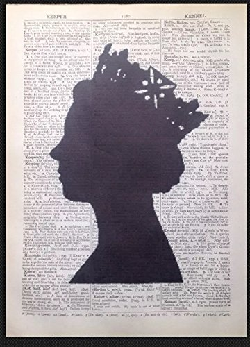 Queen Elizabeth Head British Print Vintage Dictionary Page Wall Art Picture London England UK (Queen Elizabeth Photo)