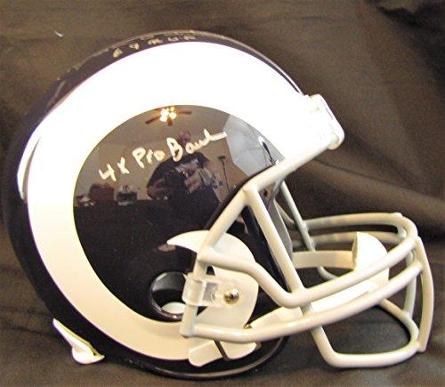 (Roman Gabriel Autographed Los Angeles Rams Full Size Replica Helmet With MVP)