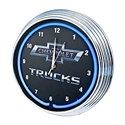 Neonetics Chevy Trucks Neon Wall Clock, 15-Inch