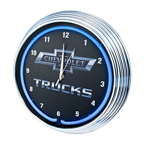 (Neonetics Chevy Trucks Neon Wall Clock, 15-Inch)