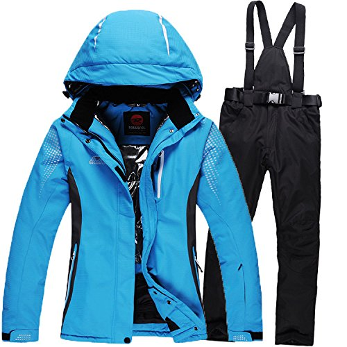 Windproof Pants Jacket Zipper DYF Black Suit Waterproof Warm FYM Coat JACKETS Men Blue Ski Women BUUxvn