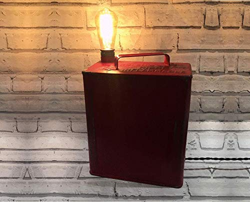 best value f4b51 ff536 Perfect Christmas Present - Red Petrol Can Lamp- vintage ...