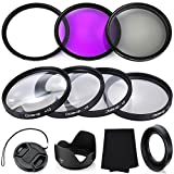 Professional 58MM Lens Filter Bundle Kit, 6 Compact Canon Accessories