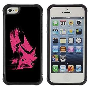 Suave TPU GEL Carcasa Funda Silicona Blando Estuche Caso de protección (para) Apple Iphone 5 / 5S / CECELL Phone case / / Pink Poke /
