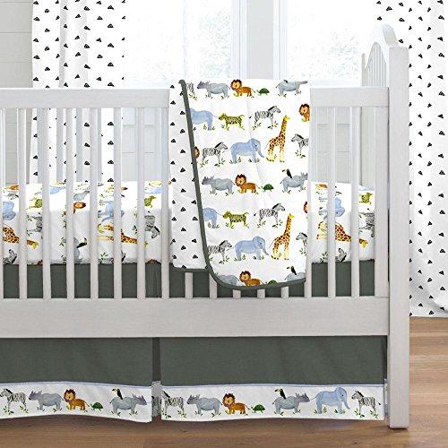 Carousel Designs Painted Zoo 3-Piece Crib Bedding Set