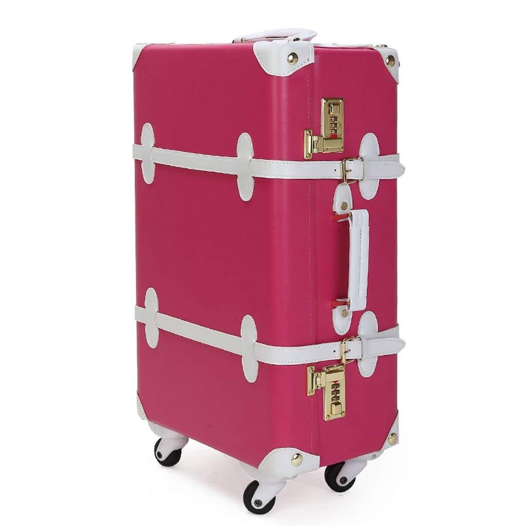 ZHAOSHUHLI スーツケーストロリーケーストロリーボックス結婚式レトロスーツケース荷物キャスター (Color : H, Size : 12'') B07R1KFSHW H 12''