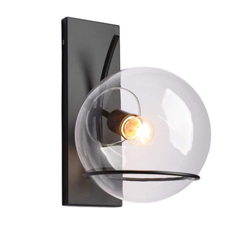 Industrielle Wandleuchte im Vintage-Stil Kreative Persönlichkeit Wandlampe Glas lampenschirm Innen Art Deco Beleuchtung für Wohnzimmer Schlafzimmer Flur Restaurant LOFT