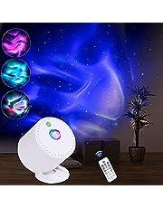 MHAZDZE LED-stjärnhimmel projektor, justerbar hastighet och ljusstyrka nattlampor-projektor, galaxaxy-projektor med fjärrkontroll, LED havsvåg-projektor lämplig för barn vuxenfester