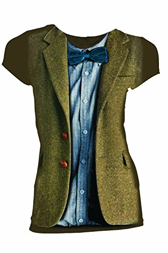 Doctor Who Classic Womens T-Shirt 11Th Doctor Costume Bowtie Chestnut XXXXL