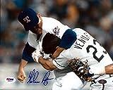 Nolan Ryan Autographed 8x10 Photo Texas Rangers Ventura Fight PSA/DNA Stock #75028
