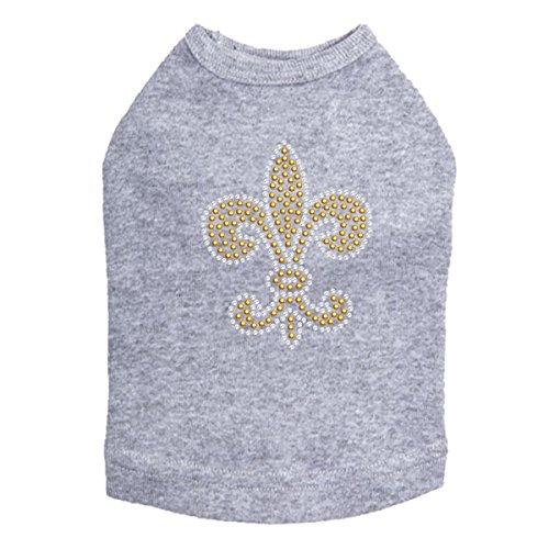 Fleur de Lis Gold Rhinestuds - Dog Shirt