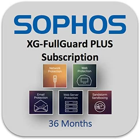 1 Month Extension Sophos XF1Z0CTES // XF1Z1CTES // XF1Z2CTES // XF1Z3CTES Sophos XG 106 /& XG 106w FullGuard Plus with Enhanced Support Renewal